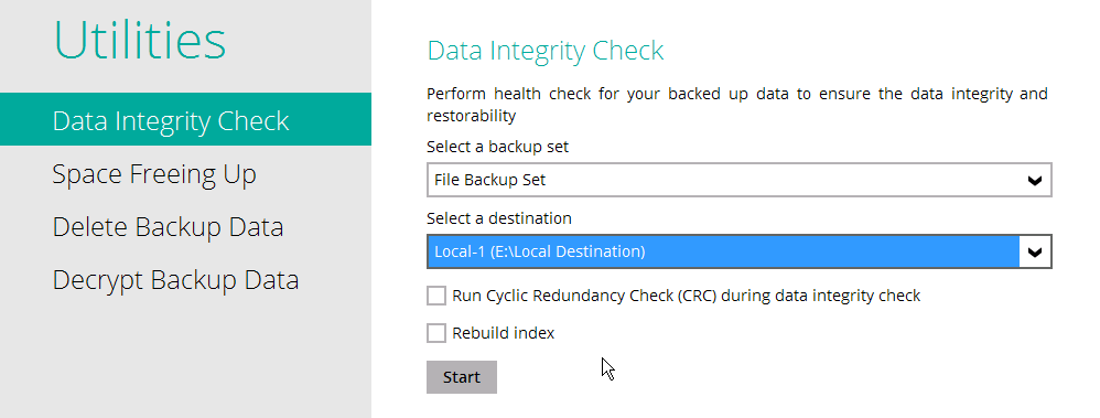 FAQ: How to run a Data Integrity Check for backup data