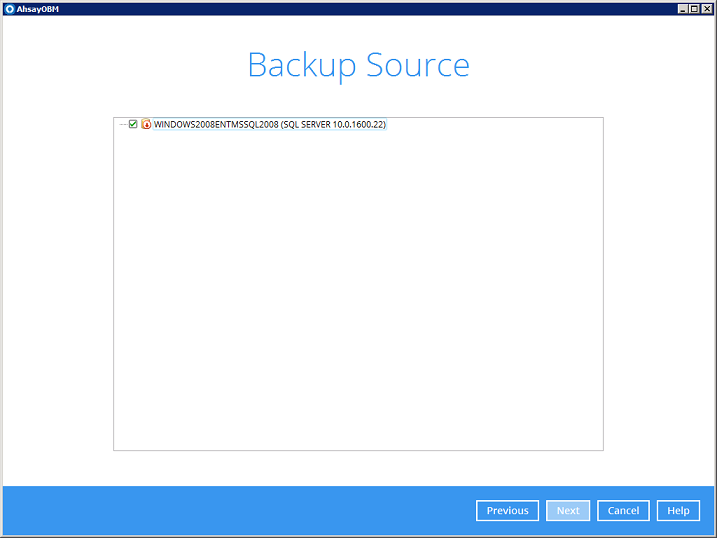 ISSUE: MSSQL Server databases are not shown in AhsayOBM backup