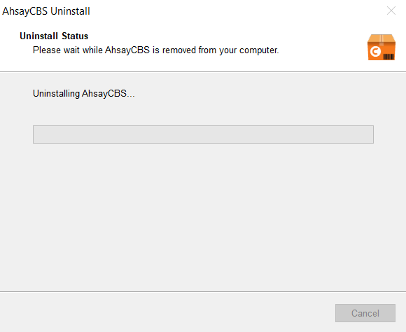 ISSUE: Installation and un-installation of AhsayCBS stuck on