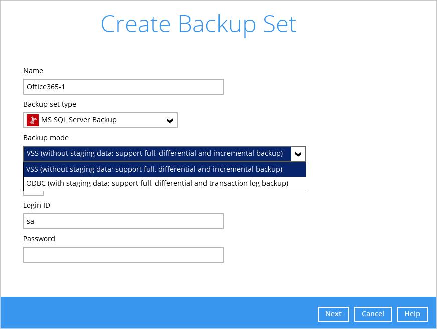 Microsoft SQL Database Backup Set [Ahsay Wiki]